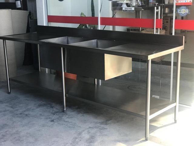 Pia industrial AISI 304 - somos fabricantes - Envio imediato