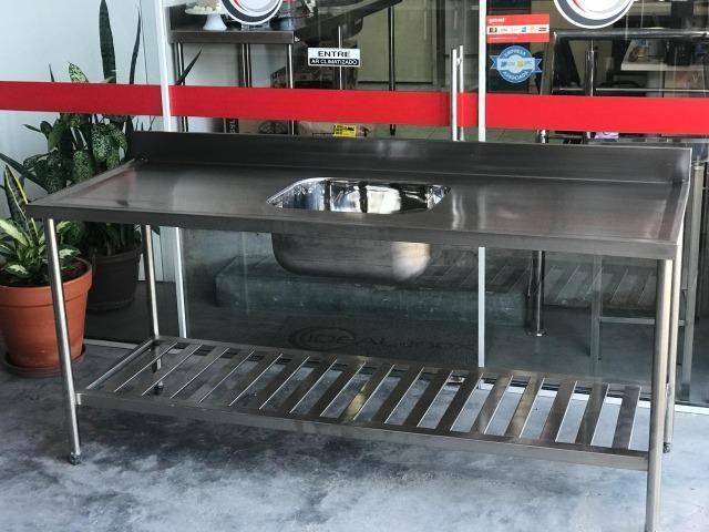 Pia industrial AISI 304 - somos fabricantes - Envio imediato - Foto 2