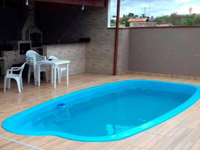 TA- Queimão piscina de fibra 5,8 metros Anil- 30 anos de mercado - Foto 2