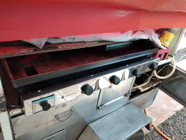 Carrinho para lanche com chassis - Foto 3