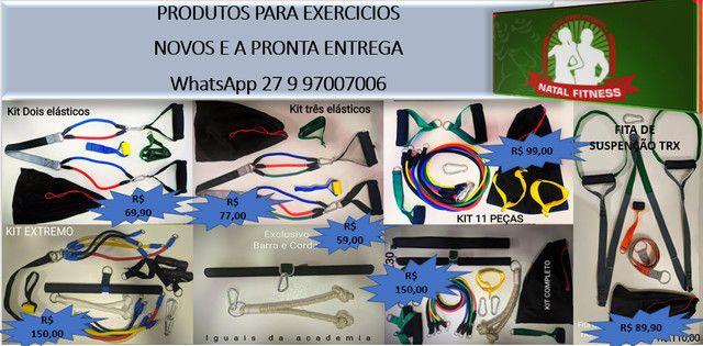 Kit 16 Peças 06 Elásticos Extensores Musculação Pylates CrossFit Funcional - Foto 5
