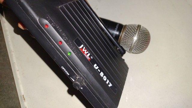 Microfone sem fio com central e fonte - Foto 2