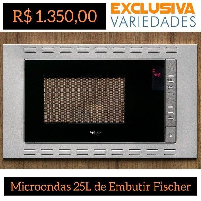 Micro-ondas 25L Fit Line de Embutir Fischer
