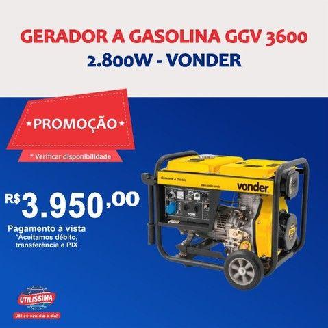 Gerador à Gasolina 2800W GGV3100 110V Vonder ? Entrega grátis