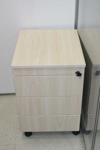 Gaveteiro / Porta Arquivo c/ 3 Gavetas em MDF Bege 62 cm x 40 cm x 47 cm