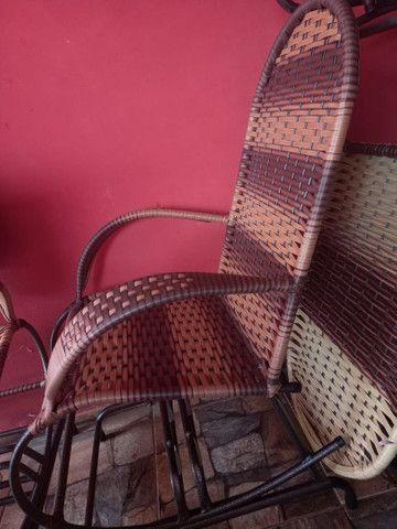Cadeiras de balanço 4 molas - Foto 2