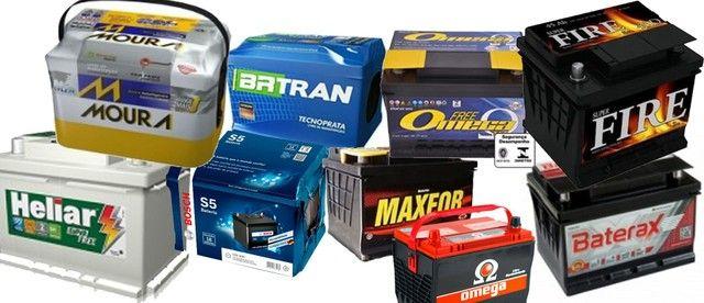 Bateria usada 40 50 60 ah, 120,00 com 03 meses de garantia à base de troca à vista. - Foto 3