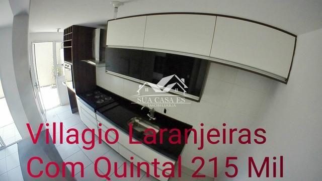 GM - Lindo Apartamento com Quintal Condomínio Club Villaggio Laranjeiras - ES - Foto 2