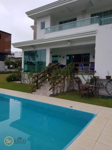 Casa com 5 dormitórios para alugar por r$ 12.000/mês - praia do estaleiro - balneário camb