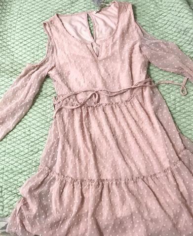 Vestido rosa bebê P