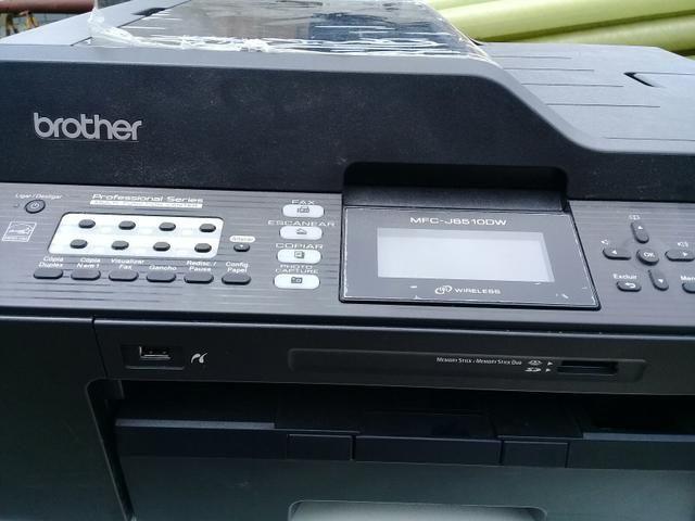 Impressora brother a3 mfj6510dw funcionando sem cartucho vendo as tres