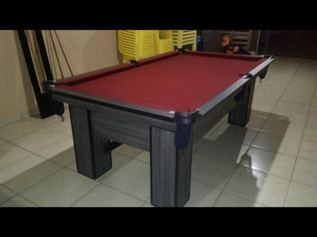 Mesa de Bilhar Cor Tabaco Tecido Bordo Redinhas Modelo CTH4787 - Foto 4