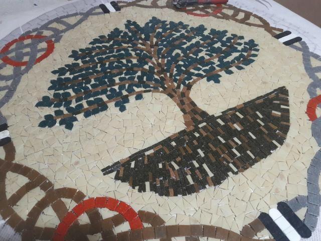 Arvore da vida, Arvore da Felicidade mosaico, piso mosaico, mandala piso - Foto 3