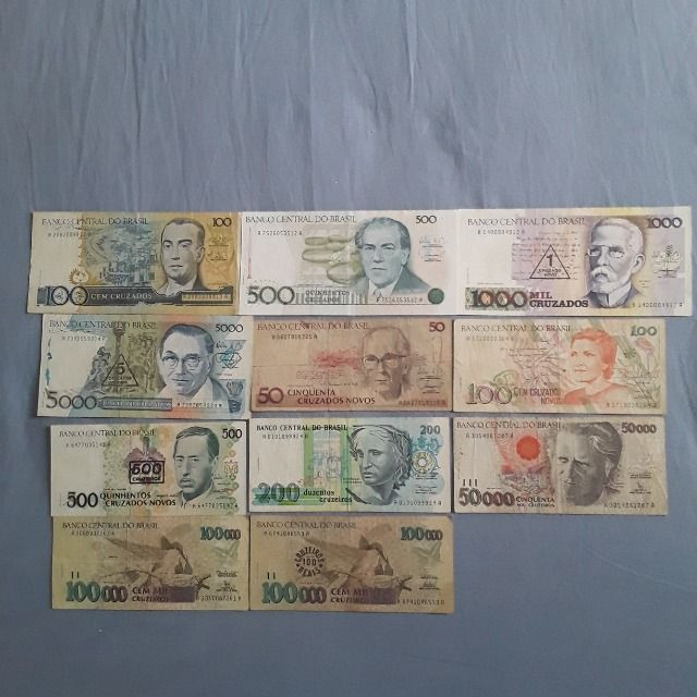 Lote de notas antigas do Brasil - Foto 3