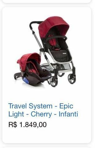Carrinho, Bebê conforto e suporte de bebê conforto - Foto 6