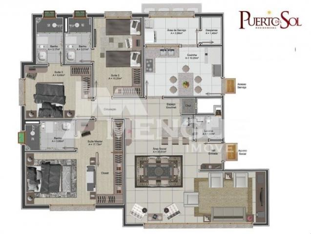 Apartamento à venda com 3 dormitórios em Jardim lindóia, Porto alegre cod:9192 - Foto 5