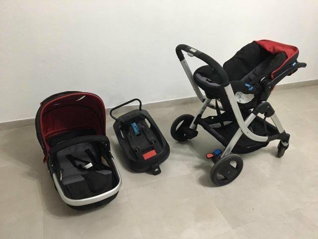 Carrinho, Bebê conforto e suporte de bebê conforto