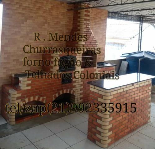 Churrasqueiras forno fogão & Telhados Coloniais - Foto 2