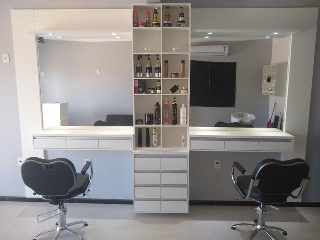 Móveis e equipamentos completo para salão de beleza