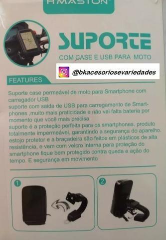Suporte Com Case E Usb Para Moto H Maston- Entrega Grátis - Promoção - Foto 7