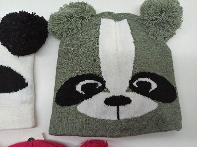 Touca Gorro Infantil Inverno Coruja Panda Guaxinim Criança - Foto 3