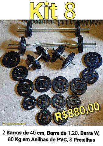 Cama elástica , anilhas, barras , acessórios treino - Foto 2