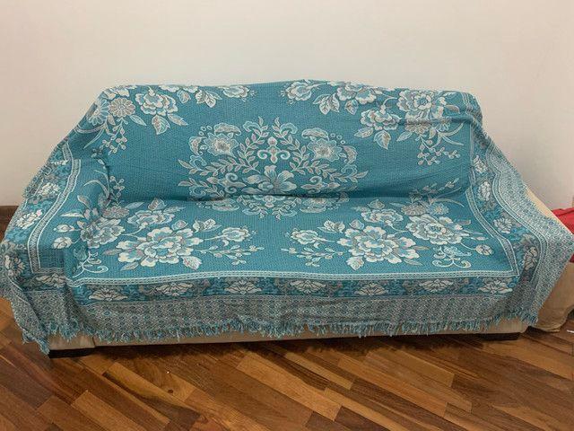 Sofá cama casal (colchão de molas) novinho - Foto 6