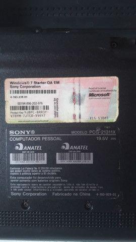 Laptop Sony retirada peças  - Foto 6