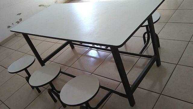 Mesa Refeitório com 6 Banquetas - Foto 2