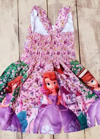 Vestido infantil Princesinha Sofia - Foto 2