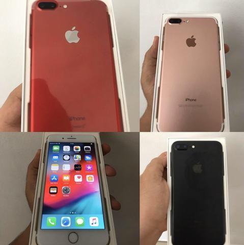 IPhone 7 Plus 128gb Nas cores Rosé, Red e Preto, Aparelhos em Estado de Zero Na caixa