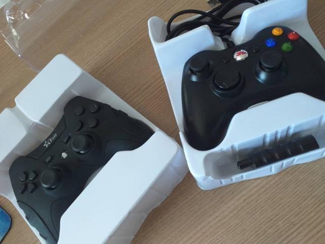 Controles para computador, com e sem fio, Xbox e PS3 - Foto 2