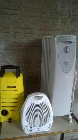 2 aquecedores e um lava-jato
