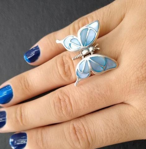 Anel Butterfly Prata 925