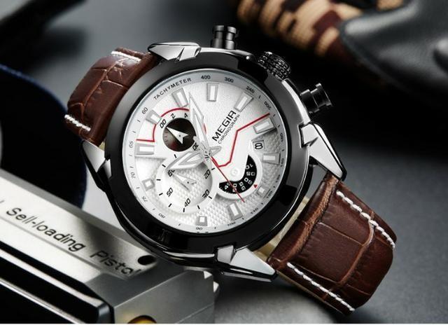 5bd385287e1 Relógio de quartz Megir - original