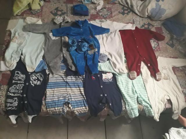 Lote bebê menino 40 peças