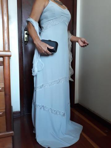 Vestido de festa NOVO cor cinza com echarpe nova