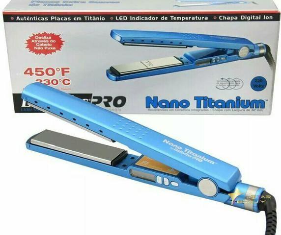 Produto Novo Chapinha prancha Nano Titânio 230°C + Modelador de Cachos Nano Titanium
