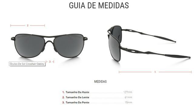 5f1822740 Óculos Oakley Crosshar Matte Black Iridium Novo - Bijouterias ...