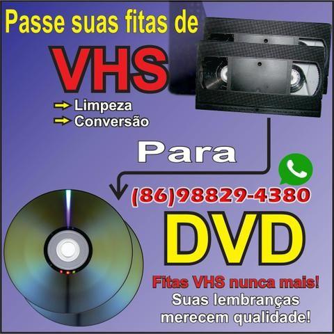 Passo suas fitas vhs para dvd apartir de R $ 39,90 aceito cartão
