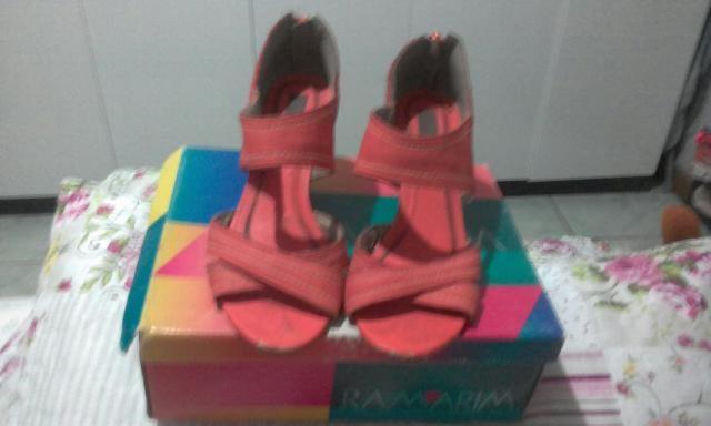 Sandália diferenciada coleção Ramarim / cor quase laranjada / meio salmon / tamanho-38 - Foto 5