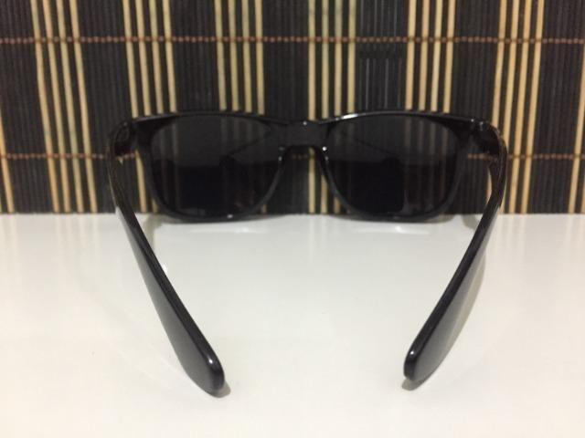 (Aceito cartão) Óculos modelo Wayfarer unissex - Lente: Preta - Estilo Ray Ban - Foto 3