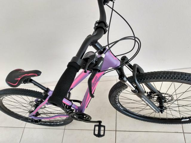 Bike 29 Feminina Tamanho 15 Shimano - Foto 6