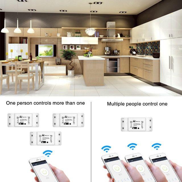 Smart Switch Moes Melhor que Sonoff Automação Alexa Google Home - Foto 3