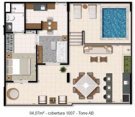 Cobertura Linear ,120m2 Taguá Life, Use FGTS e Ganhe Taxas, Financ. Bancário - Foto 7