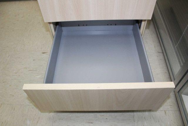 Gaveteiro / Porta Arquivo c/ 3 Gavetas em MDF Bege 62 cm x 40 cm x 47 cm - Foto 3