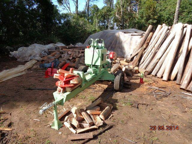 Rachador de lenha madeira tora vários modelos com motor elétrico trator tomada de força  - Foto 8