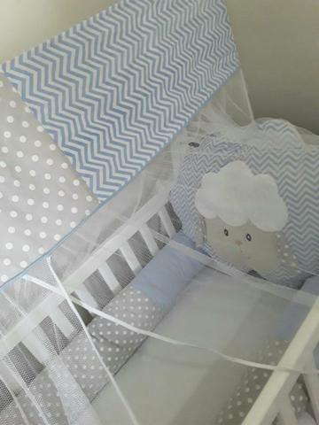 Berço + kit protetor com mosquiteiro + ninho - Foto 5
