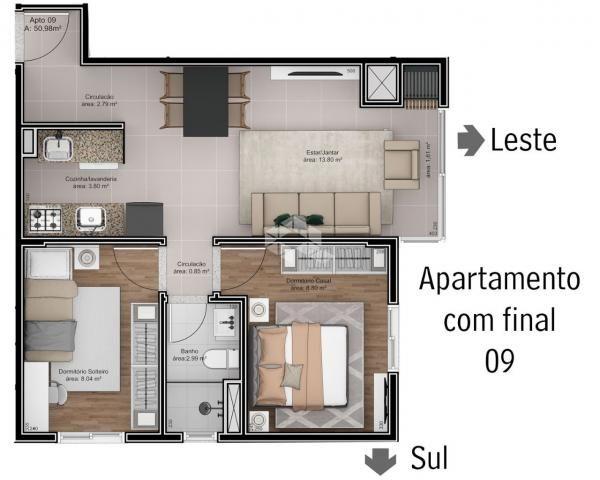 Apartamento à venda com 2 dormitórios em São roque, Bento gonçalves cod:9914244 - Foto 8