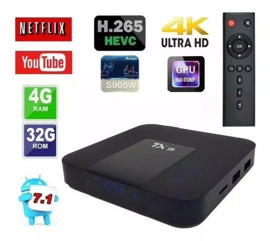 Conversor Smart Tv Tx9 4gb Ram Ddr3- 32gb Rom - Foto 2